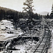 Truckee River - California Looking Toward Donner Lake - C 1865 Art Print