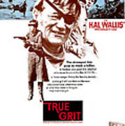 True Grit, Kim Darby, John Wayne, Glen Art Print by Everett