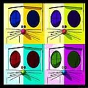 Truly Nolen Rat In Quad Colors Art Print