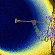 Trumpet Moon Art Print
