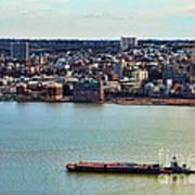 Tugboat On The Hudson Art Print