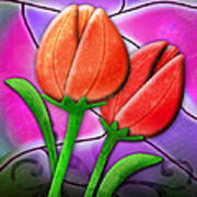 Tulip Glass Art Print by Melisa Meyers