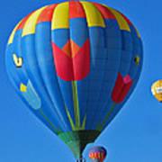 Tulip Hot Air Balloon Art Print