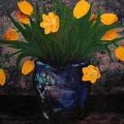 Tulips In Blue Art Print