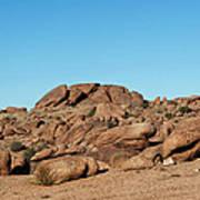 Tumbling Rocks Of Gold Butte Art Print