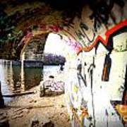 Tunnel Bridge River Fish Art Print