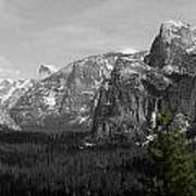 Tunnel View Selective Color Art Print