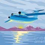Turbo Jet Plane Retro Art Print by Aloysius Patrimonio