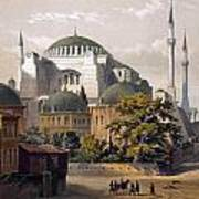 Turkey: Hagia Sophia, 1852 Art Print