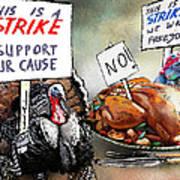 Turkey Strike Art Print