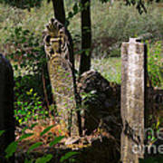 Turkish Cemetery In Rural Mugla Province Art Print