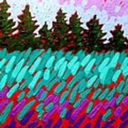 Turquoise Field Art Print