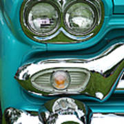 Turquoise Headlight Art Print