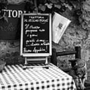 Tuscan Cafe Diner Art Print by Andrew Soundarajan
