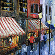 Twelve Street And Rine Print by Anthony Falbo