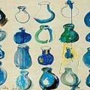 Twenty Blue Pots Art Print