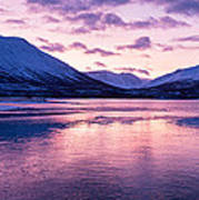 Twilight Above A Fjord In Norway With Beautifully Colors Art Print by Ulrich Schade