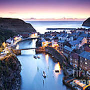 Twilight Glow Staithes Art Print