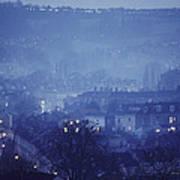 Twilight In Bath, England Art Print