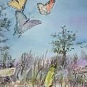 Twilight In The Garden Art Print by Dorothy Herron