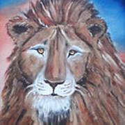 Twilight's Lion Art Print