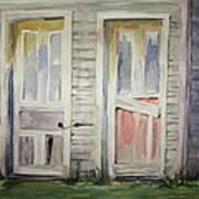 Twin Doors Art Print