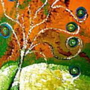 Twirl Pop Tree Art Print by Pretchill Smith