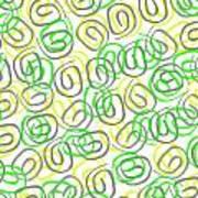 Twirls Art Print by Louisa Knight