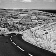 Twisty Country Mountain Road Through Glenaan Scenic Route Glenaan County Antrim  Art Print