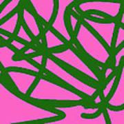 Twisty Green Thing Art Print