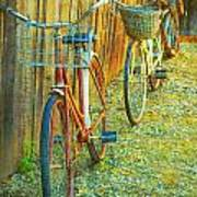 Two Bicyles Art Print