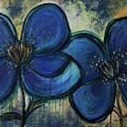 Two Blue Poppies Art Print