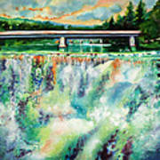 Two Bridges And A Falls 2          Art Print