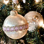 Two Christmas Ornaments Art Print