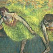 Two Dancers Relaxing Art Print