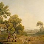 Two Gentlemen Going A Shooting Art Print