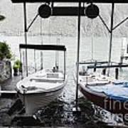Two Hanging Boats Art Print