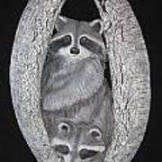 Two In A Tree Art Print by Janet Knocke