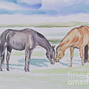 Two Mares Art Print