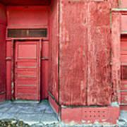 Two Red Doors Art Print by James Steele