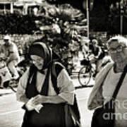 Two Women In Rovinj 2 Art Print