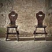Two Wooden Chairs Art Print