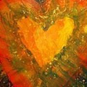 Tye Dye Heart Art Print