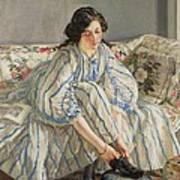 Tying Her Shoe Art Print by Sir Walter Russell