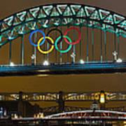 Tyne Bridge At Night II Art Print