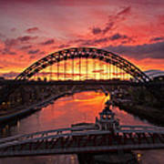 Tyne Bridges At Sunrise IIi Art Print