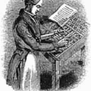 Typesetter, 19th Century Art Print