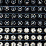 Typewriter Keyboard Print by Hakon Soreide