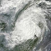 Typhoon Haikui Makes Landfall Art Print