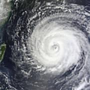 Typhoon Muifa East Of Taiwan Art Print
